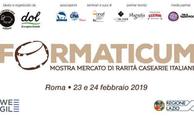 FORMATICUM: Prende il via nella Capitale la prima edizione della mostra mercato dedicata alle rarità casearie made in Italy.