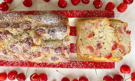 Plumcake alle Ciliegie e Semi di Papavero Senza Burro